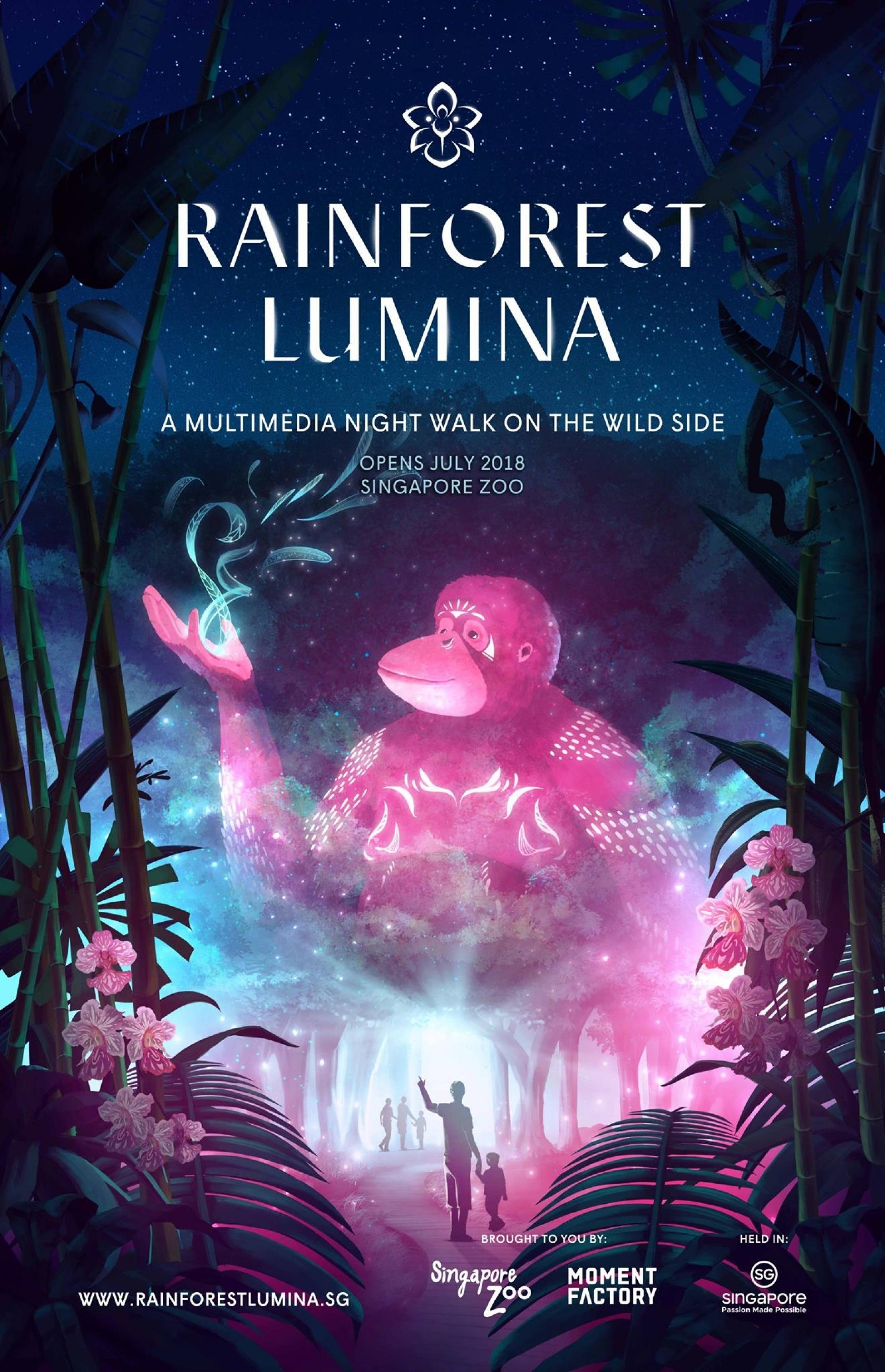 新加坡动物园「幻光雨林之夜」7月1日正式开幕!入门票