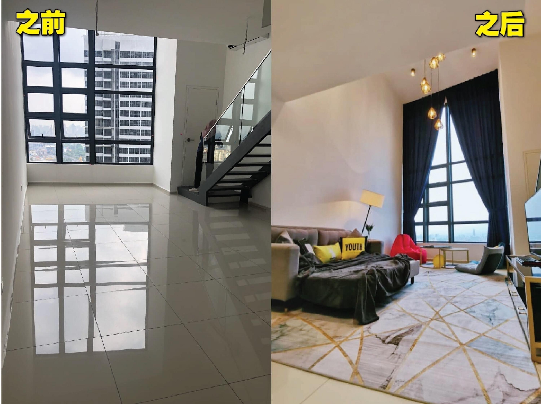 折叠沙发椅图片_大马女子只花RM8000淘宝!把屋子改成高级住宅!想装修的可以学 ...